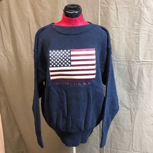 NWT Oarsman Rochester, NY American Flag Sweater